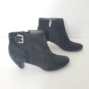 Sam Edelman Women's Black Leather Booties Shoes